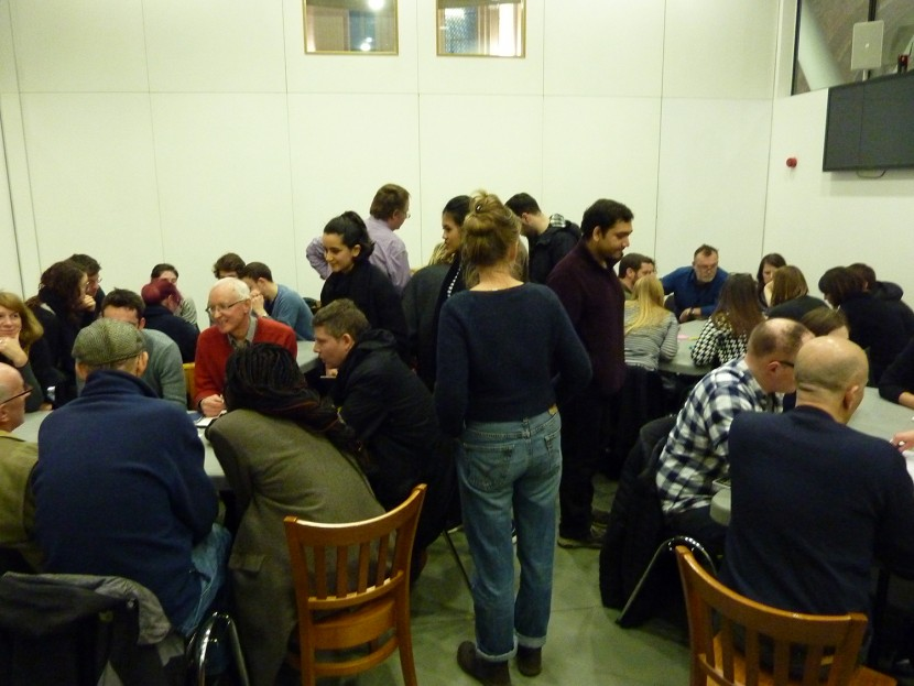 local residents discussing neighbourhood planning